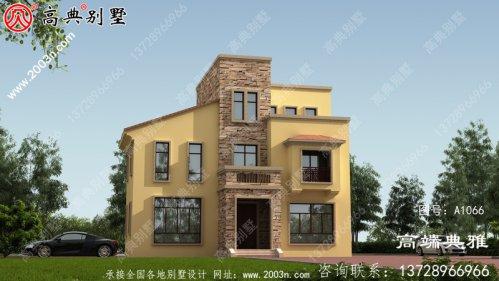 三层乡村建造小别墅设计图纸,占地面积113平米
