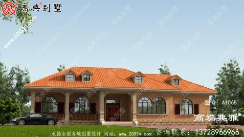 单层欧式别墅方案设计图,设计方案带cad施工图