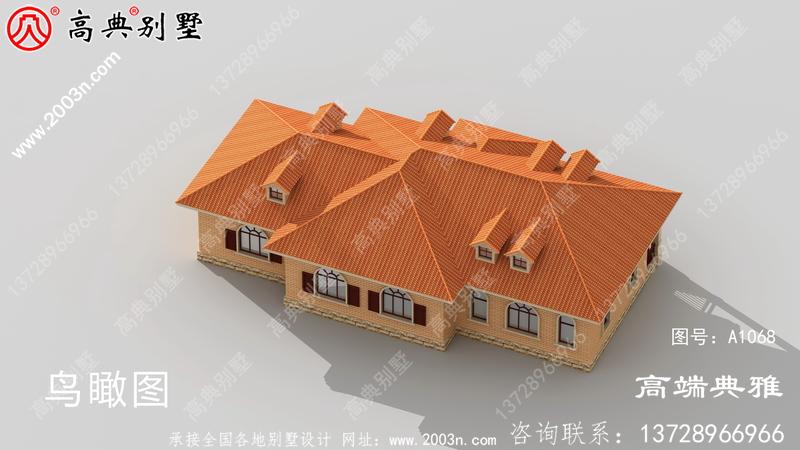 单层欧式别墅方案设计图,设计方案带cad施工图纸