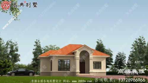 一层别墅设计平面图、平面设计用cad施工图和外