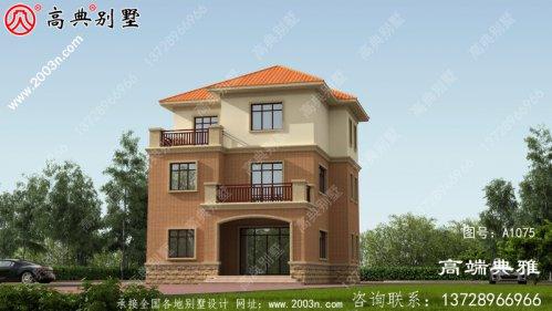 欧式大气三层小别墅的设计图,外观、造型优雅