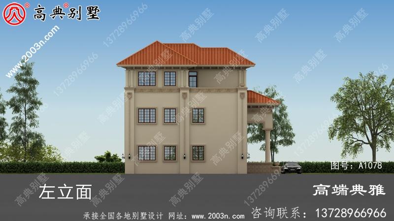 乡村40万内三层住宅设计图纸,小房基地优选
