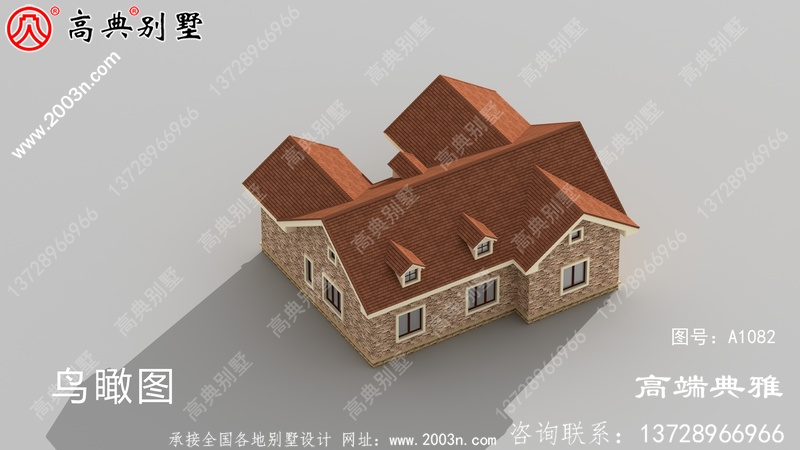 一楼小别墅设计图样、有cad设计图和外观效果图