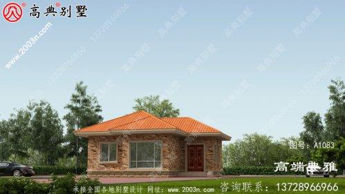 农村简洁经济实用一层别墅设计工
