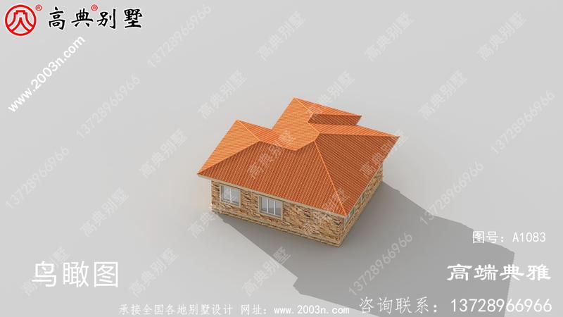 农村简洁经济实用一层别墅设计工程图纸