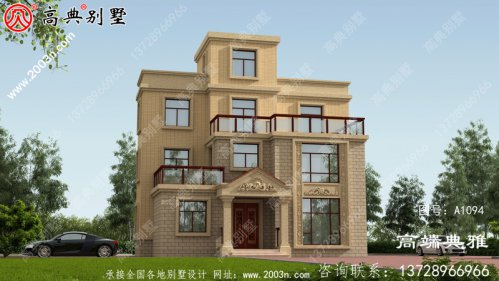 农村建欧式平顶三层楼设计图,每次飘窗设计采