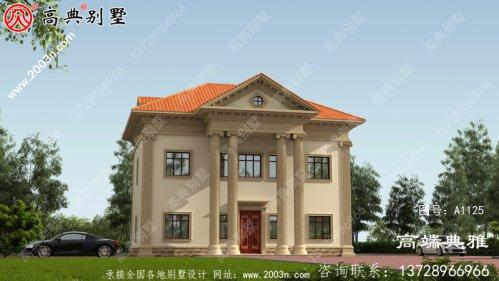 农村自建经济型二层别墅设计图纸(效果图+完整施
