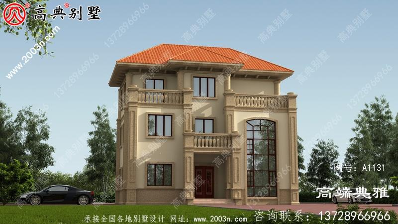 农村30万户房屋外观设计效果图,复式设计带露台
