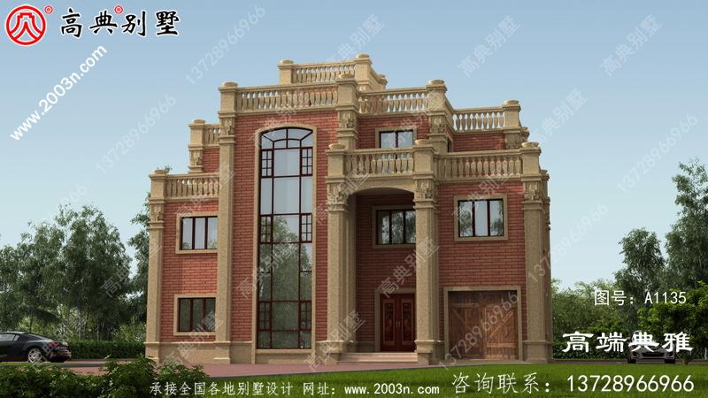 最新款奢华四层别墅设计图纸,大客厅空心小复式