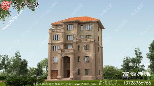 五层經典小型别墅房屋设计图纸,含设计效果图