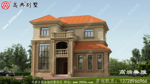 三楼半带阳台别墅的图片和设计图复式设计带车