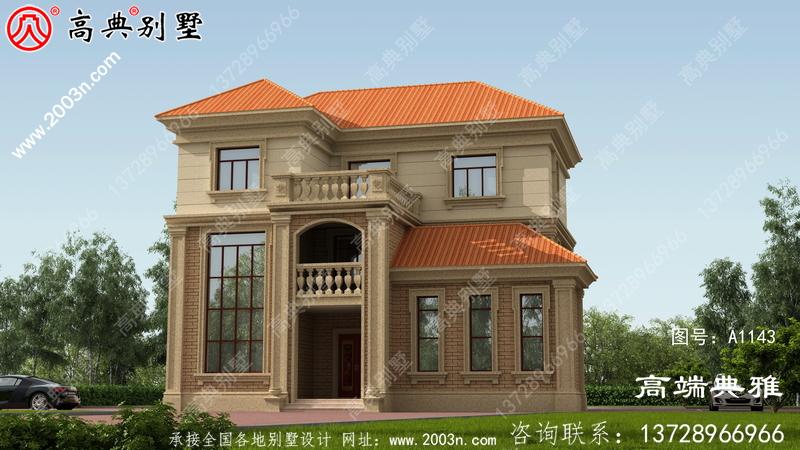 三楼半带阳台别墅的图片和设计图复式设计带车库