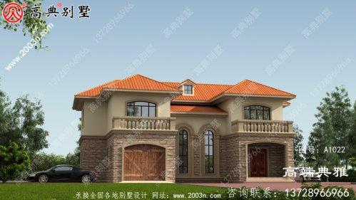 167平米新农村二层别墅设计图,带露台