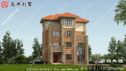 新农村建设四层經典别墅设计图纸,复式设计