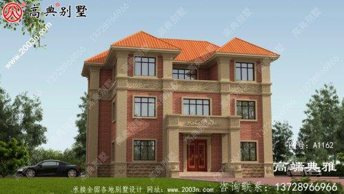 新农村欧式三层建筑设计图,建筑