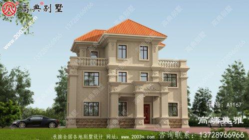 138平米小户型三层别墅房屋设计图