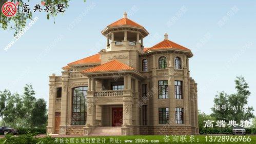 大户型复式设计的欧式三层别墅住宅设计