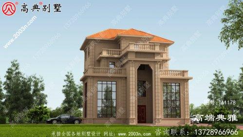 农村简易四层住宅设计图,带效果图,面积200平