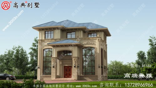 双复式三层欧式别墅设计图纸,农
