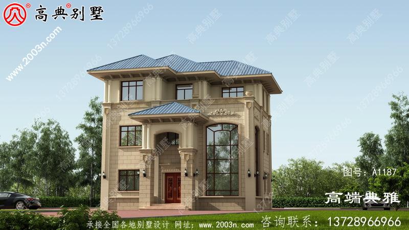 111平的乡村三层复式建筑设计,推荐自建房