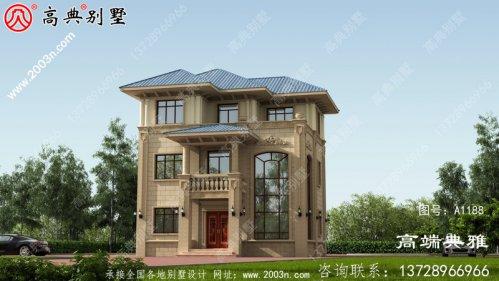 三层复式别墅外观设计效果图,自