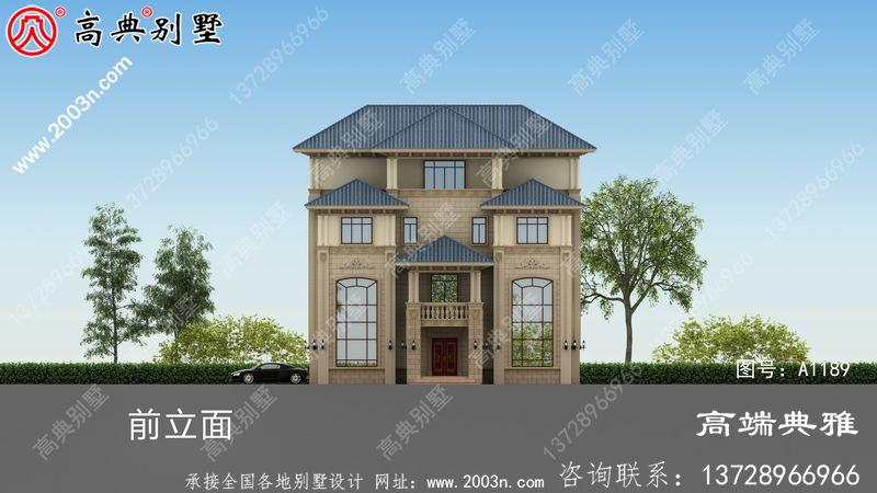 农村自建四层住宅设计,外观简单造价低