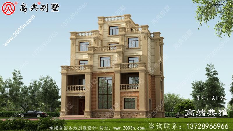 豪华五层房别墅外观设计效果图带多个阳台