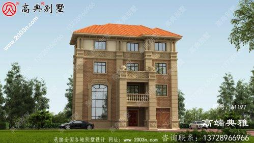 豪华复式四层别墅设计图纸,包括外观效果图