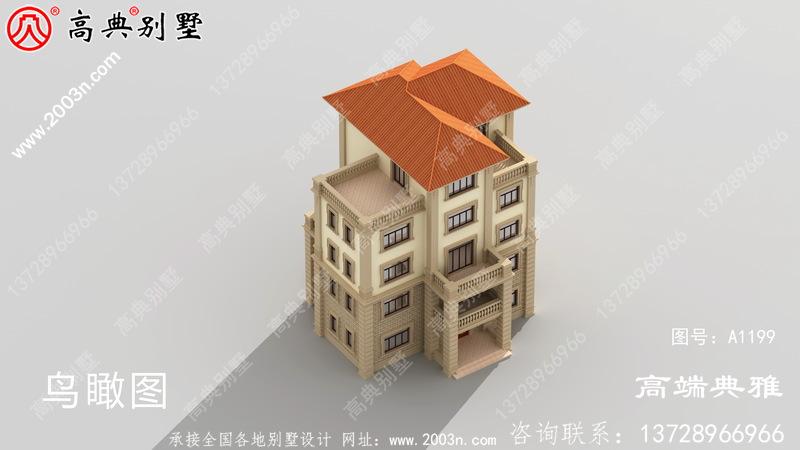低调简约五层房屋设计图纸,带设计效果图