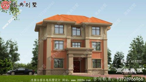125平方米三层别墅设计图,功能完善,外型好看
