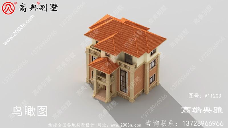 101平方米的三层别墅设计功能齐全,外形美观。