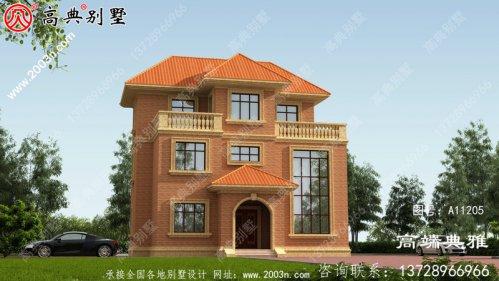 经典欧式三层别墅设计图纸,大客