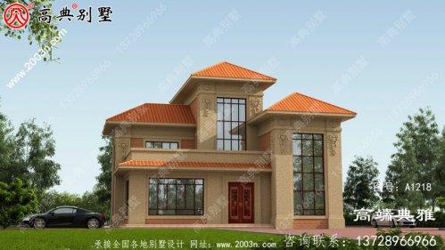三层住宅设计图纸和图片,面积144平方米,布局