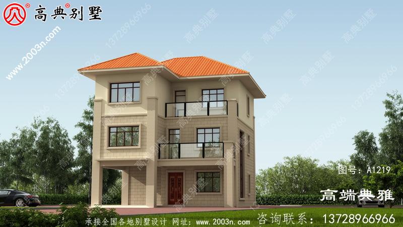 舒适大方的三层房屋设计图纸占地118平方米带露台