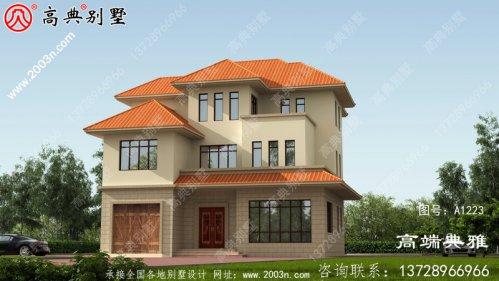 小户型三层别墅房屋设计图纸,占地166平米