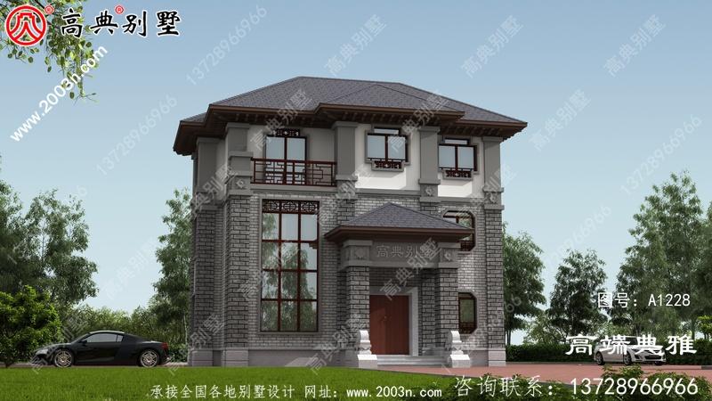 中式三层房屋设计图 ,古朴典雅又不失时尚