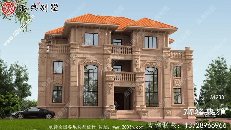 三层独栋别墅设计图纸带效果图,全套施工方案
