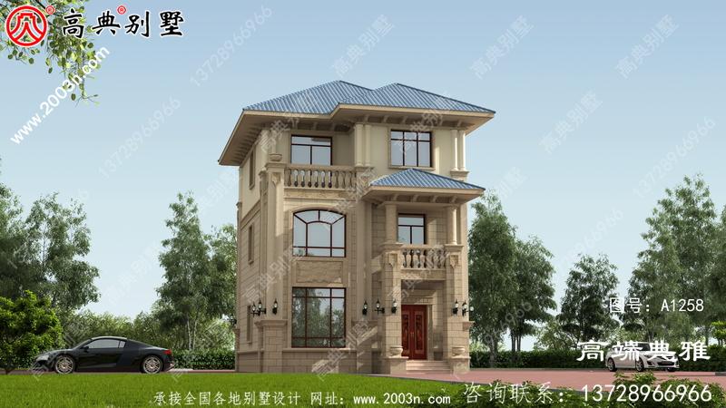 农村建设小户型房设计图,含外型设计效果图