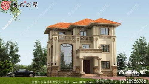 乡村三层欧式别墅复式建筑设计,