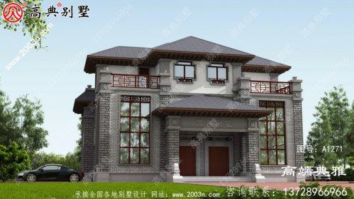 双拼中式三层别墅功能齐全,外观漂亮,适合和