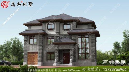 新中式三层别墅设计图,复式大厅