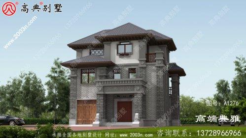 舒适大气的中式三层房屋设计图纸及图片