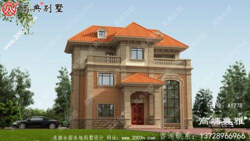 小户型房子欧式三层别墅房屋设计图纸带复式大