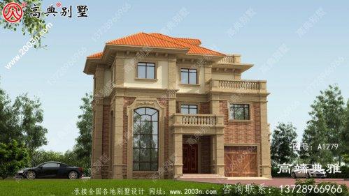 法式三层别墅的设计图占地152多平