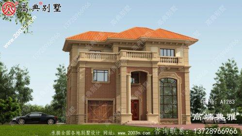 复式三层欧式别墅新农村自营住宅设计图