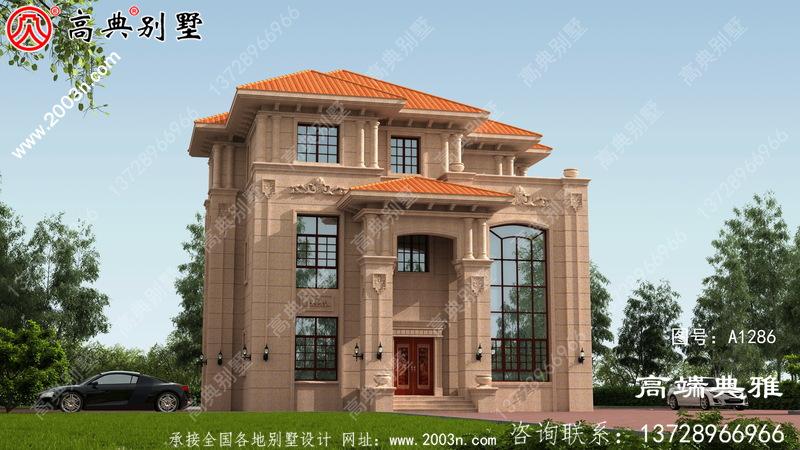 欧式石材三层别墅住宅的住宅设计图,温馨美丽的户型