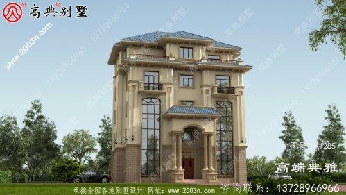 豪华双复式大厅五层新农村住宅设