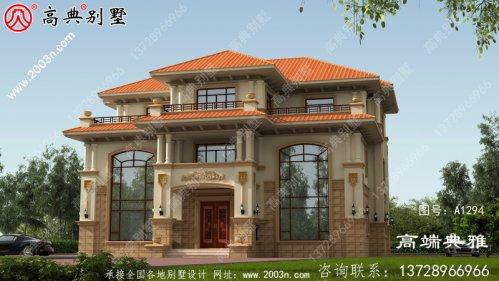 双复式三层别墅设计纸带效果图,全套施工方案