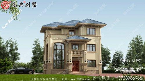 农村自建欧式三层建筑设计图,新