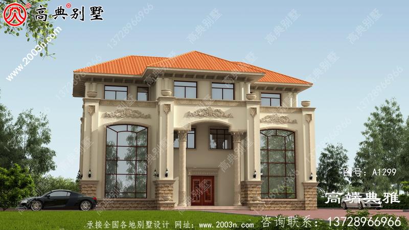 房型好的乡村三层楼房设计图,带外型设计效果图